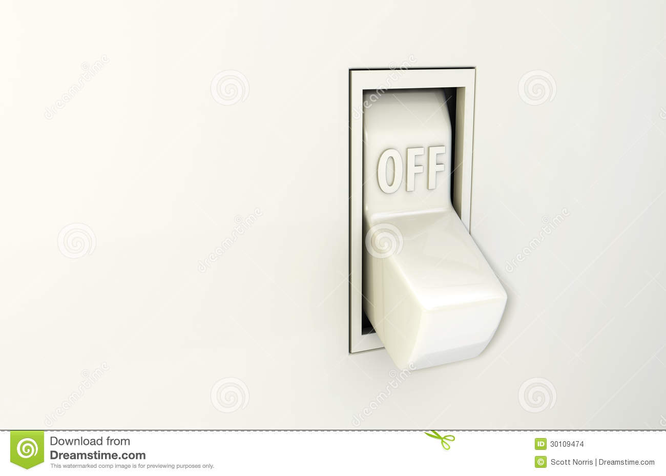 Light Switch Off Clipart Wall Switch Off Stock Images Image 30109474