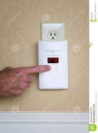 Wall-Mounted Carbon Monoxide Alarm Stock Photo - Image ...