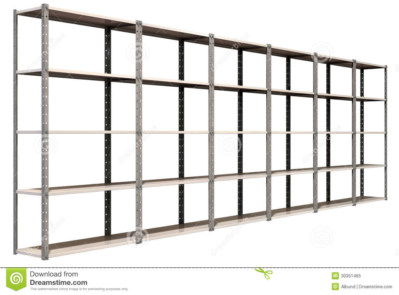 Lagerregal Clipart Warehouse Shelves Perspective Stock Illustration Image