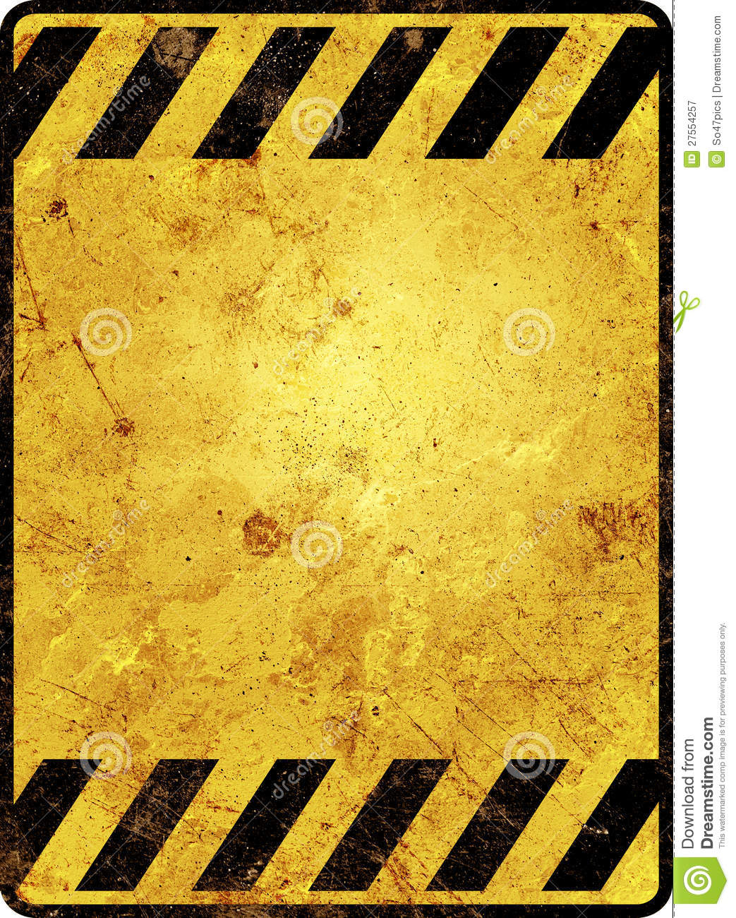 Danger 3d Wallpaper Rusty Warning Sign Template Royalty Free Stock Photography