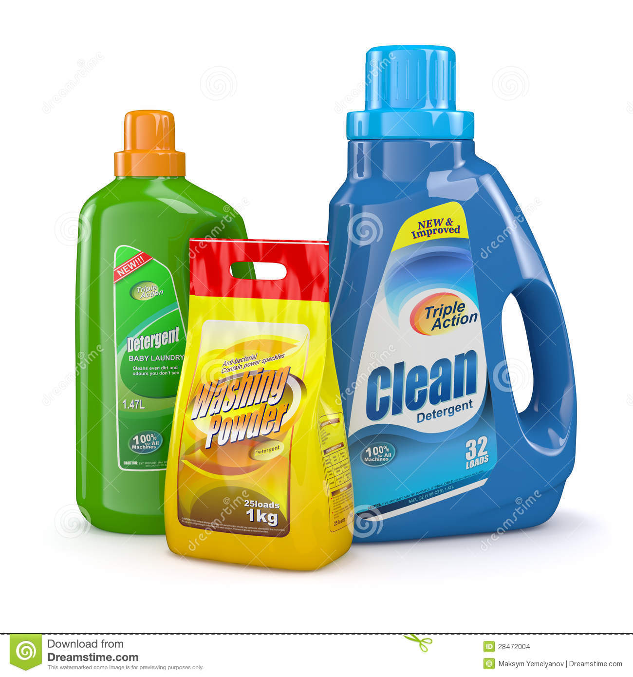 Waschmittel Clipart Washing Powder And Detergent Bottles Stock Images Image