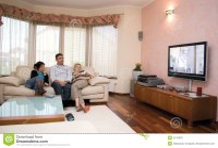 Watching TV Royalty Free Stock Photos - Image: 2415878