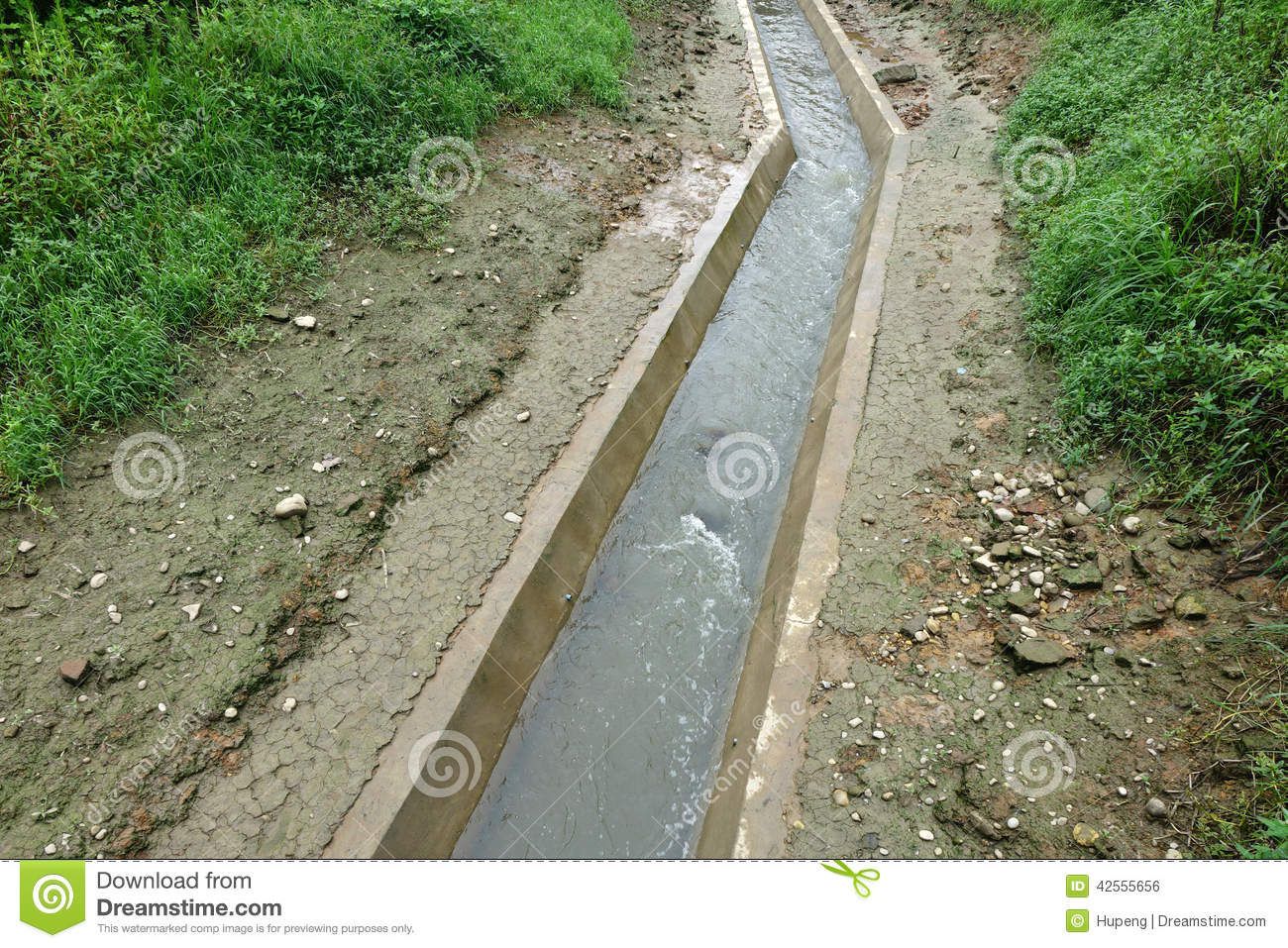 Gefälle Abflussrohr Water Channel Stock Photo Image 42555656