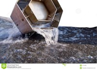 Water Draining From Pipe Royalty Free Stock Photo - Image ...