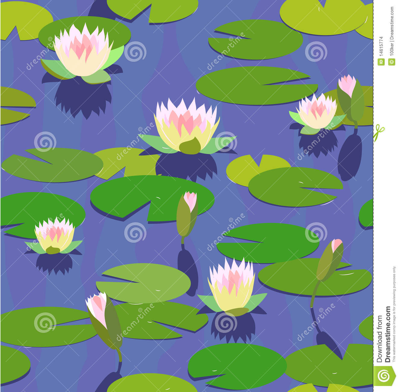 Free Animated Frog Wallpaper Water Lily In Pond Stock Vector Image Of Close Nature