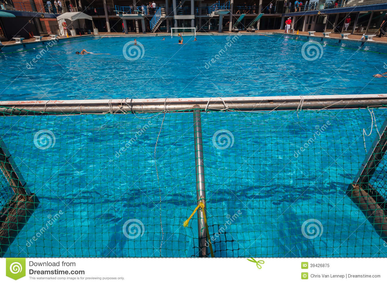 Piscina Waterpolo Water Polo Swimming Pool Action Editorial Image Image Of