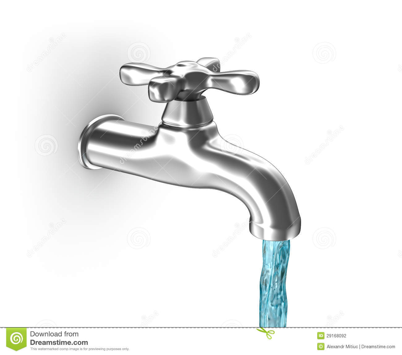 3d Fountain Wallpaper Water Tap With Running Water Stock Photography Image
