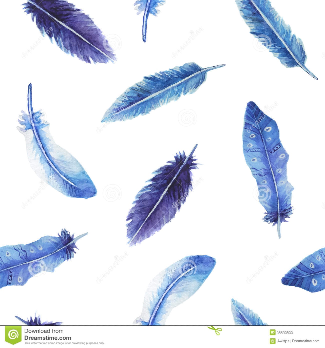 Pink Feathers Falling Wallpaper Blue Watercolor Feather Www Pixshark Com Images