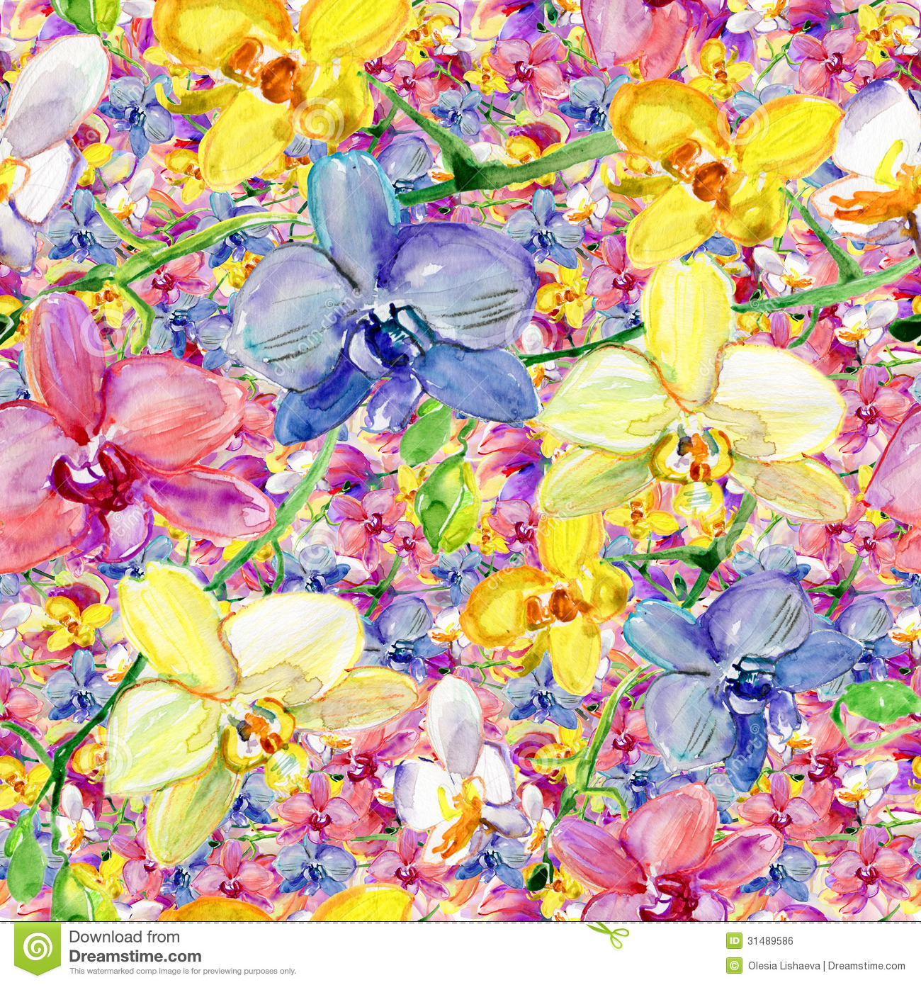 Colorful Animal Print Wallpaper Watercolor Seamless Pattern Stock Illustration Image