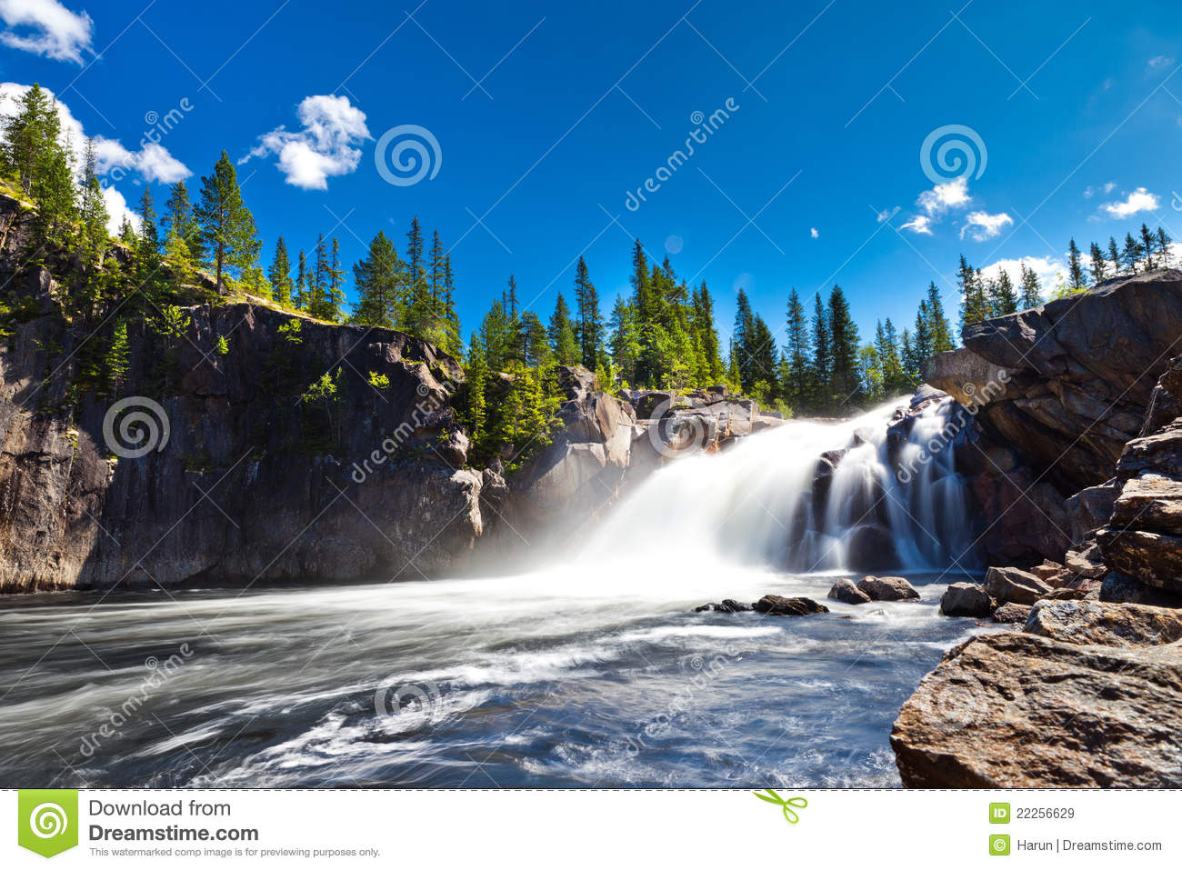 Kamin Clipart Waterfall In Countryside Royalty Free Stock Images - Image