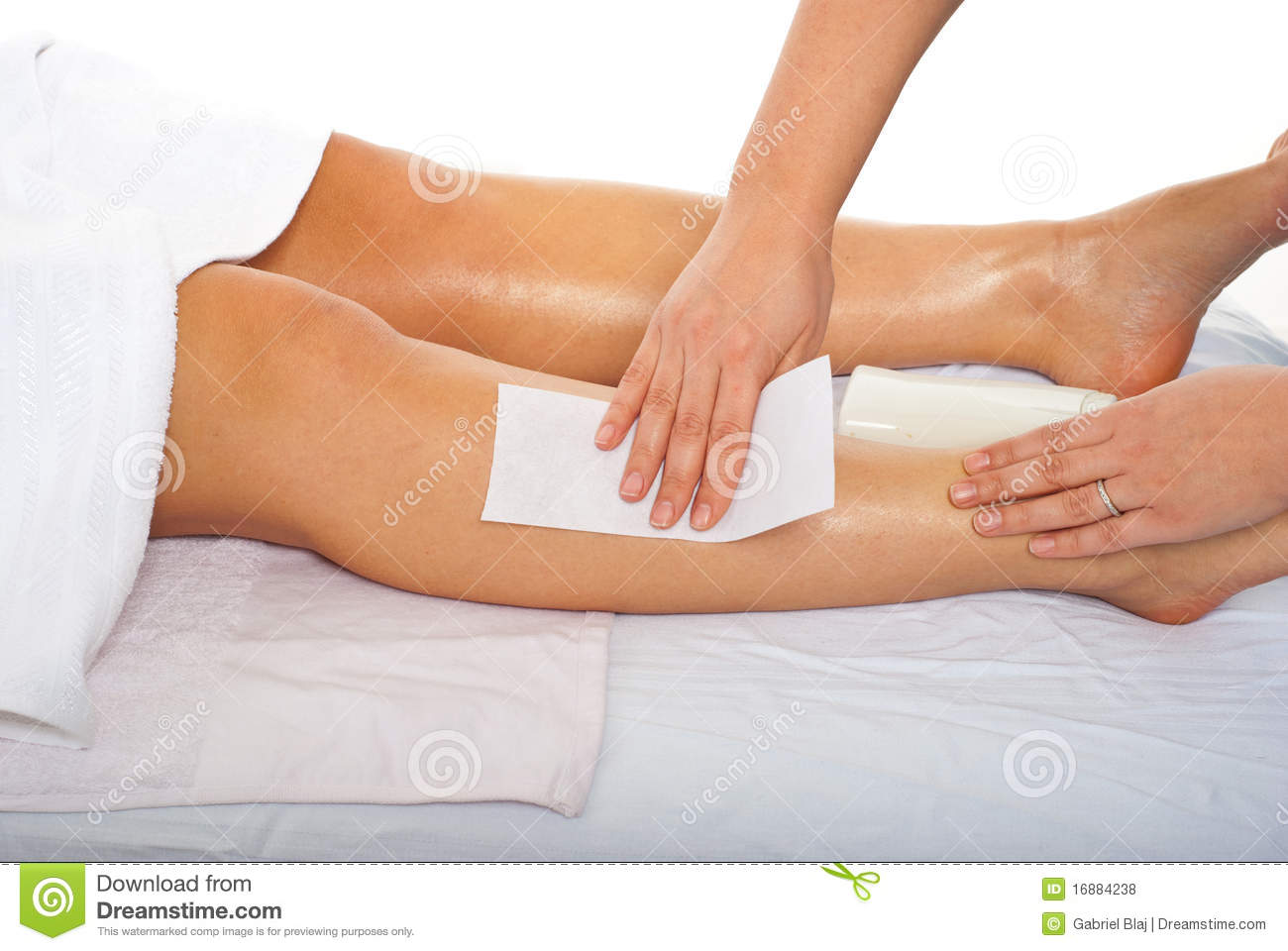 Spa Waxing Waxing Leg Royalty Free Stock Photos Image 16884238