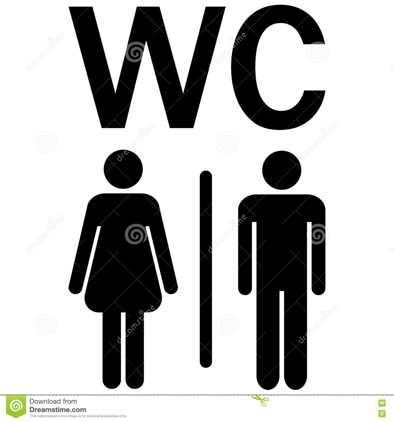 Wc Symbol Wc Sign Men Women Stock Vector. Illustration Of Locus