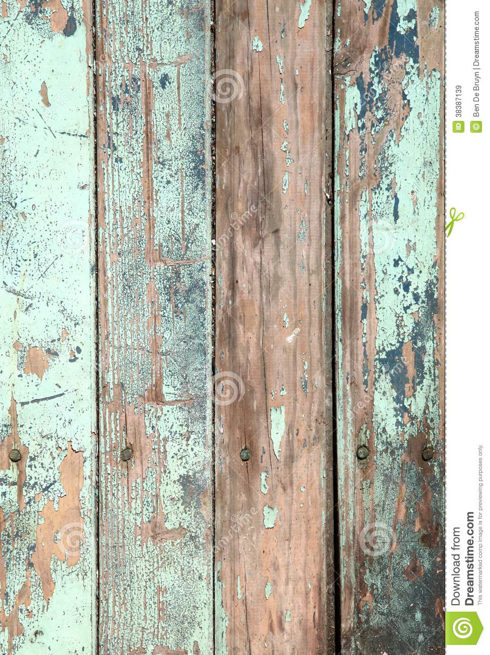 3d Grey Brick Effect Wallpaper Weathered Old Wood Natural Blue Turquoise Paint Pe Stock