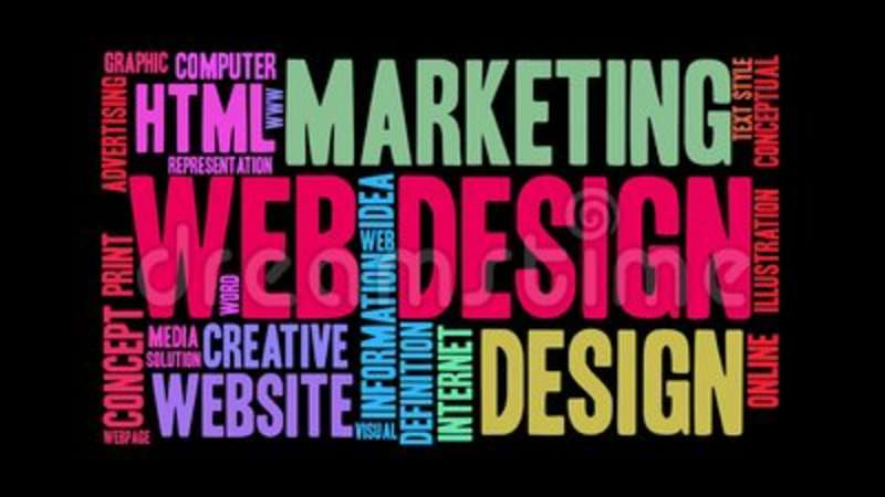Web Design Animated Word Cloud Stock Video - Video of html, page
