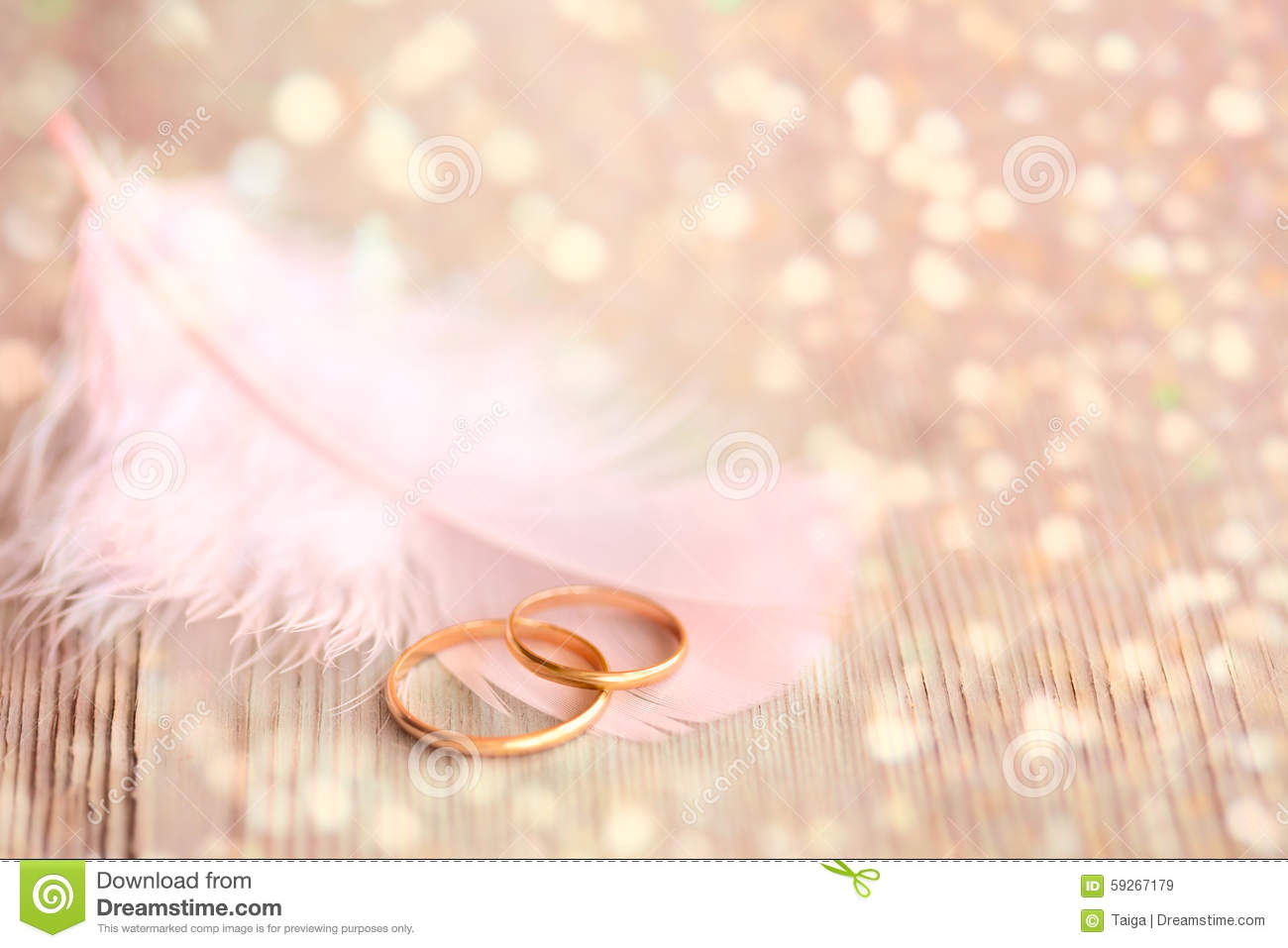 Ring Ceremony Hd Wallpaper Wedding Background With Gold Rings Pink Feather And