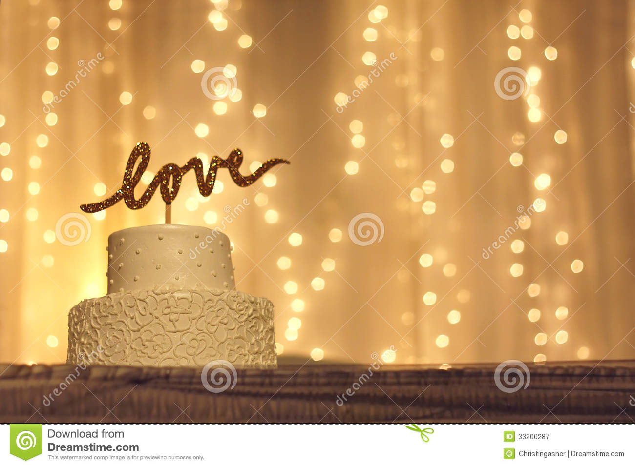 Fall String Lights Wallpaper Weddings Wedding Cake With Love Topper Royalty Free Stock