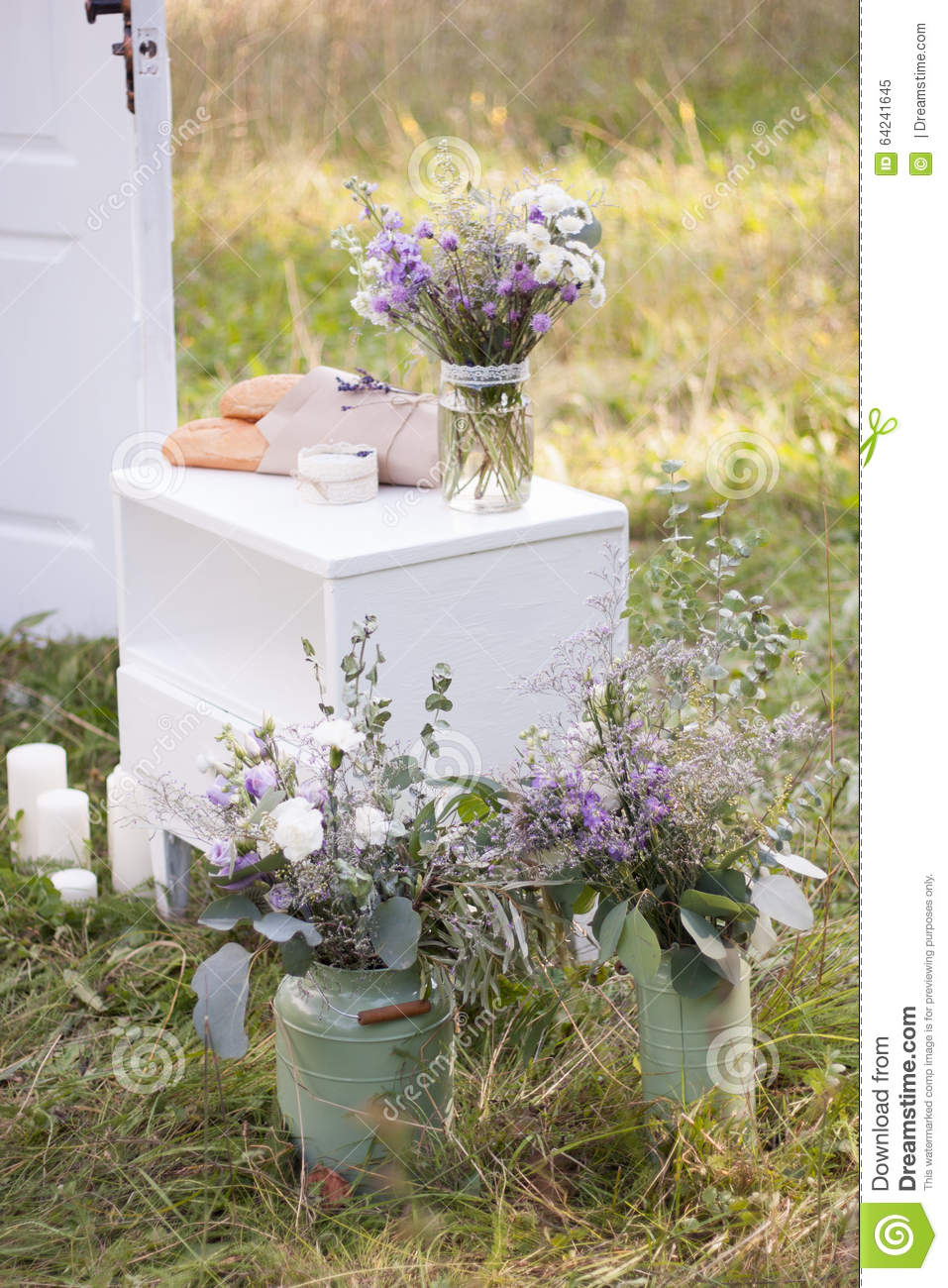 Provence Decoration Wedding Decorations In The Style Of Provence Stock Image Image
