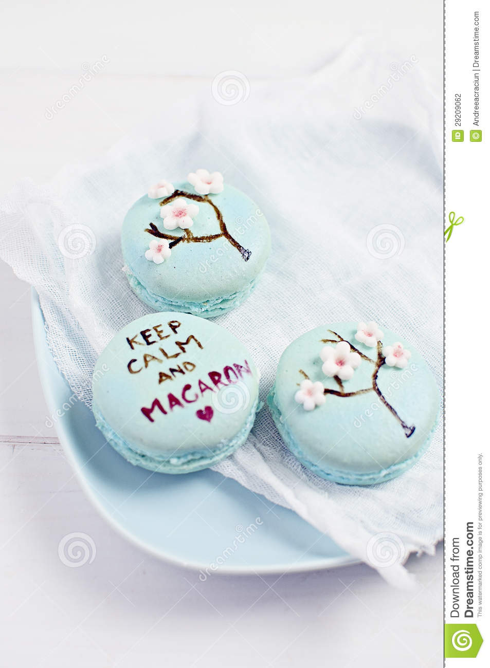 Iphone 7 Water Wallpaper Wedding Macarons With Fondant Flower Decorations Stock