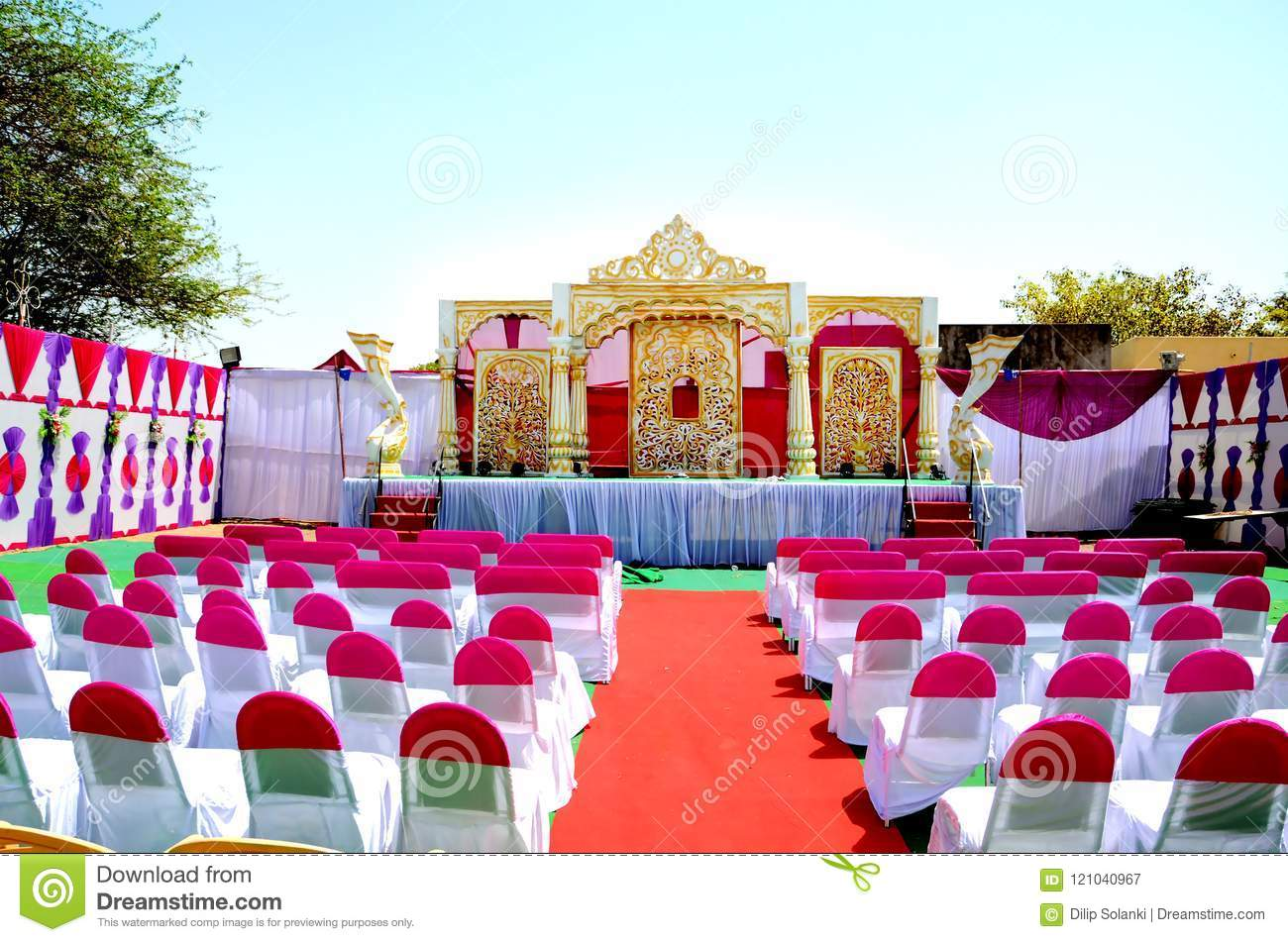 Stage Decoration Wedding Reception Stage Decoration Stock Image Image Of India