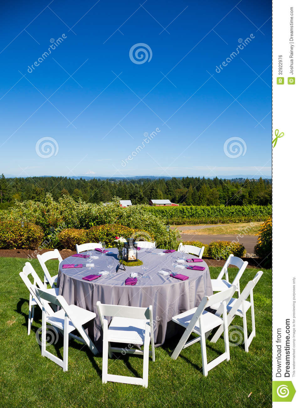 Wedding Reception Table Details Stock Photo Image Of