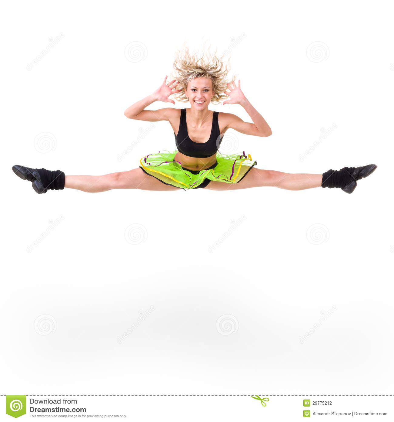Jumping Fitness Fitness Woman Jumping Of Joy Stock Photography Image
