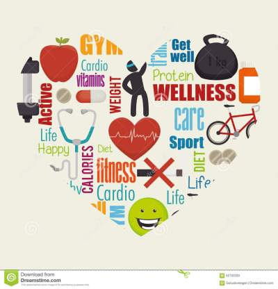 Wellness Healthy Lifestyle Icons Stock Vector ...