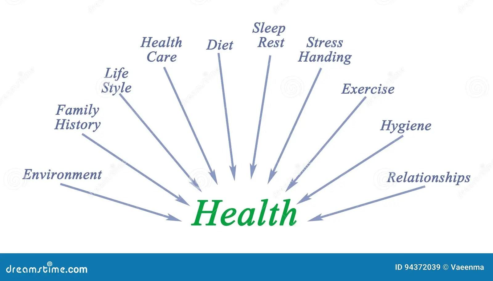 Health components stock illustration Illustration of stress - 94372039