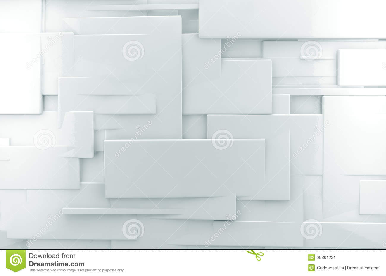 Texture Parete Bianca White 3d Abstract Wall Background Stock Illustration