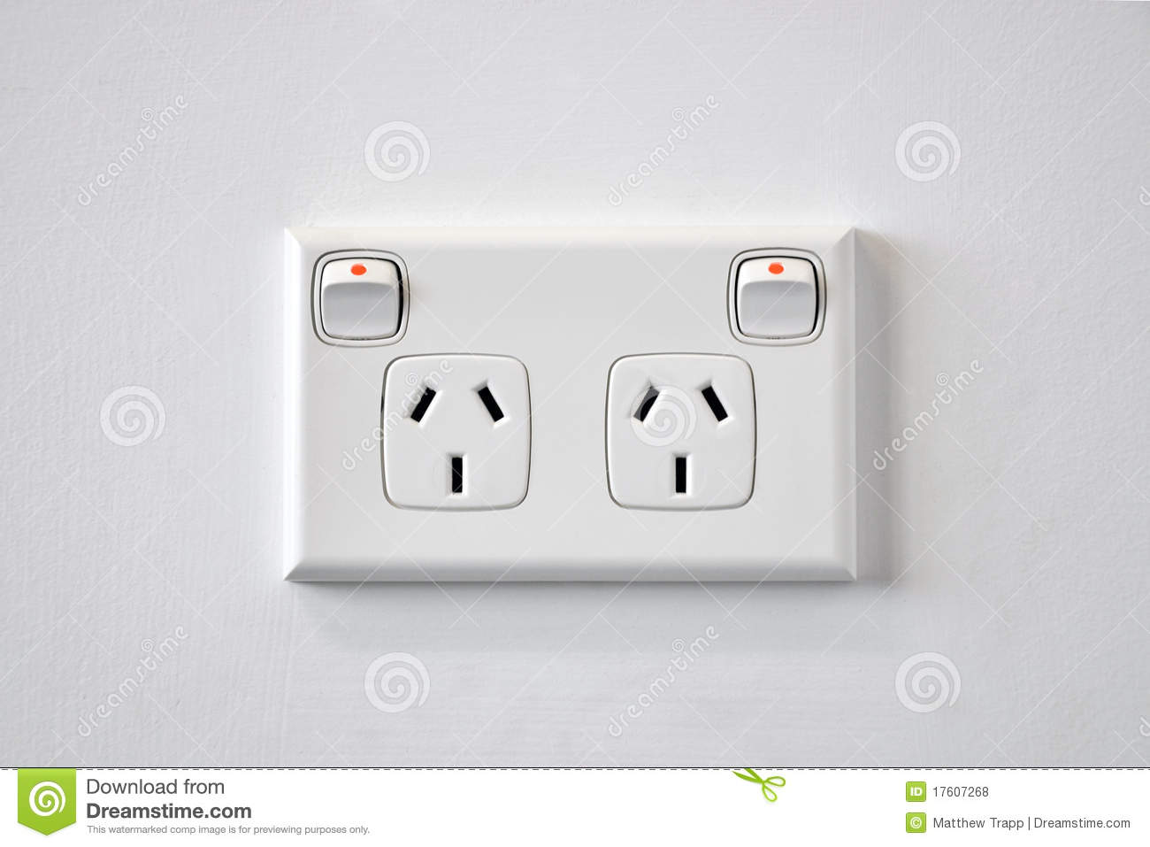 Australia Power Socket A White Australian Wall Power Outlet Stock Photo Image Of