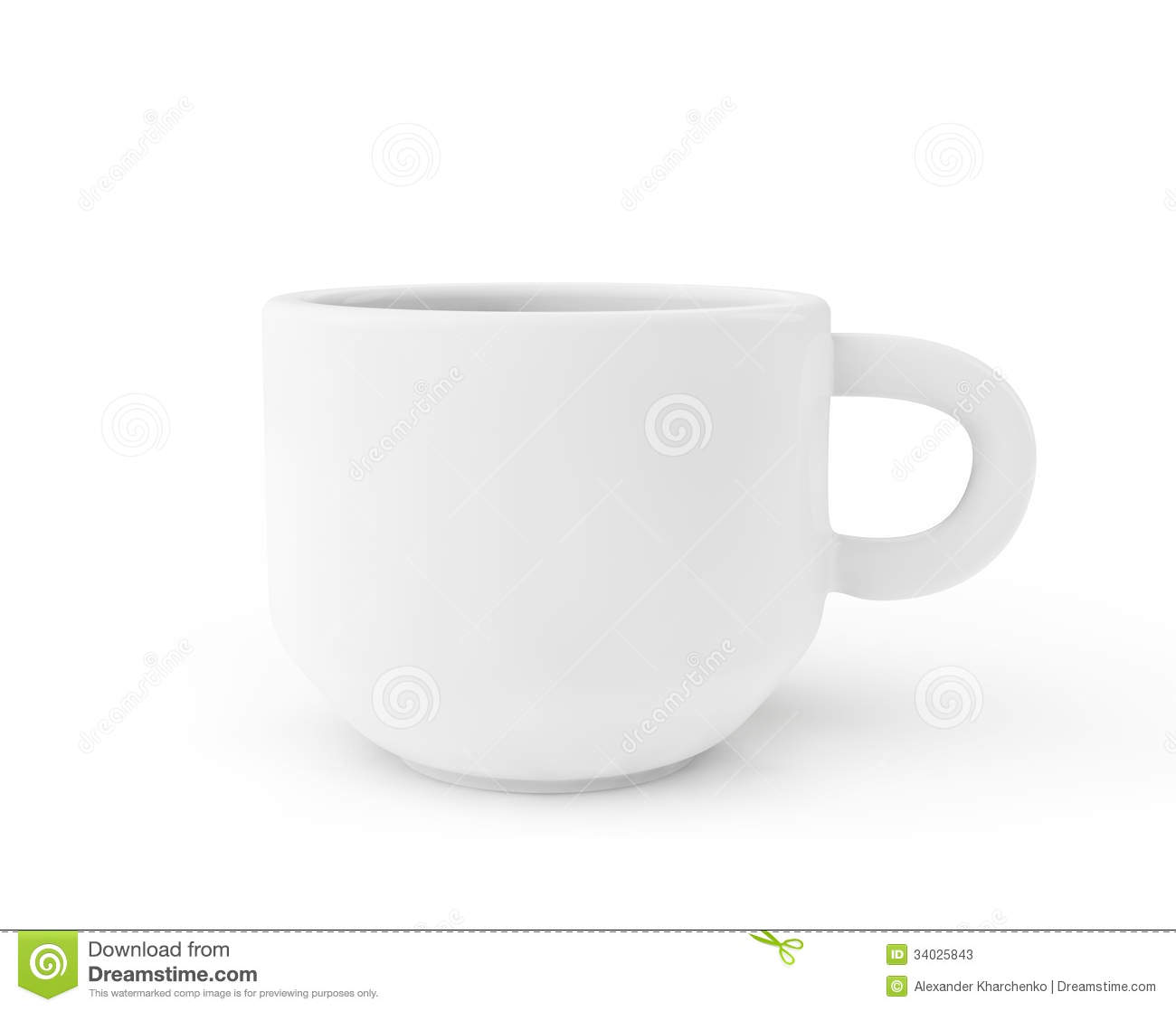 White Ceramic Coffee Cups White Ceramic Coffee Cup Stock Photos Image 34025843