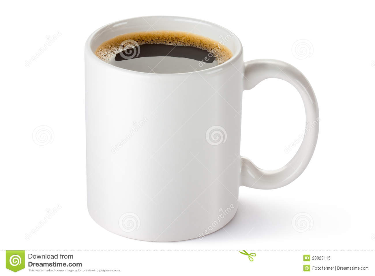 White Ceramic Coffee Cups White Ceramic Coffee Mug Royalty Free Stock Photo Image