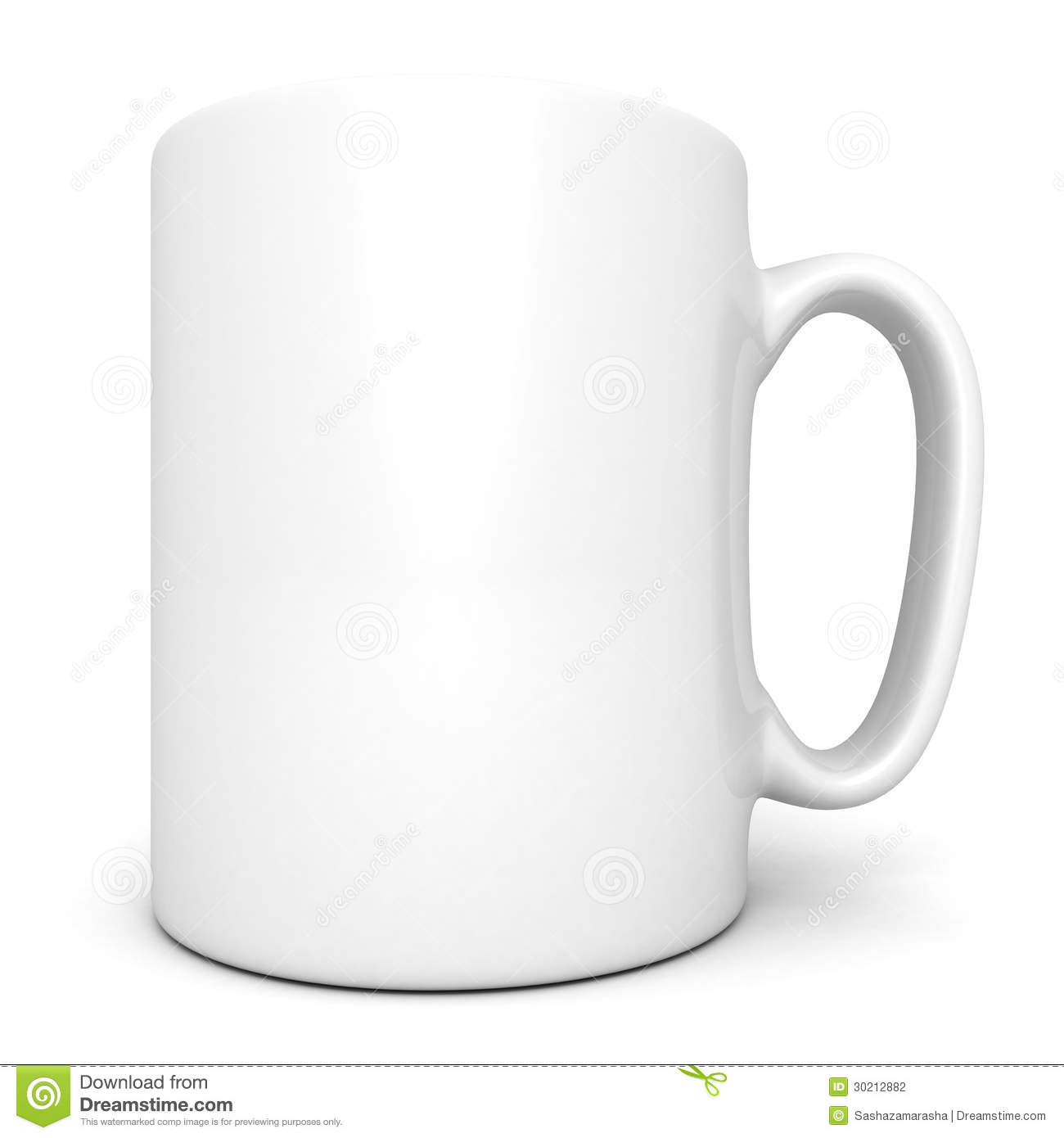 White Ceramic Coffee Cups White Ceramic Coffee Mug On White Stock Photography