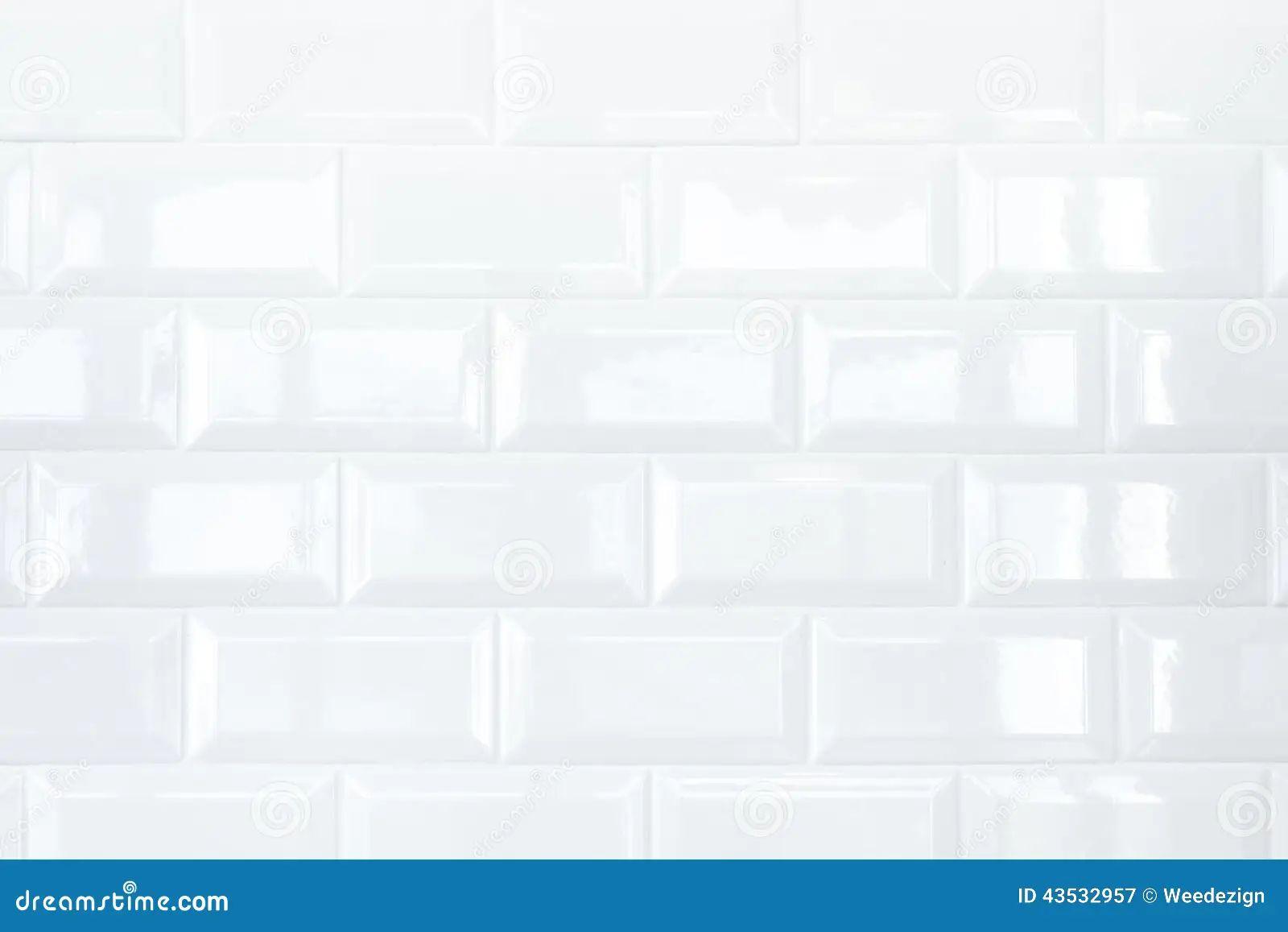 White kitchen wall tiles texture - White Ceramic Tile Brick Wall Stock Photo Image 43532957