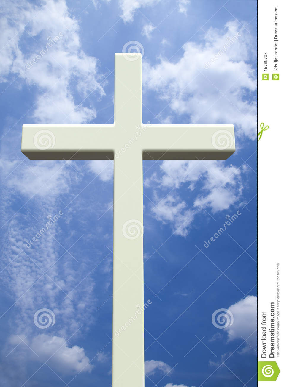 Jesus Christ 3d Wallpaper White Christian Cross In Front Of A Cloudy Sky Royalty