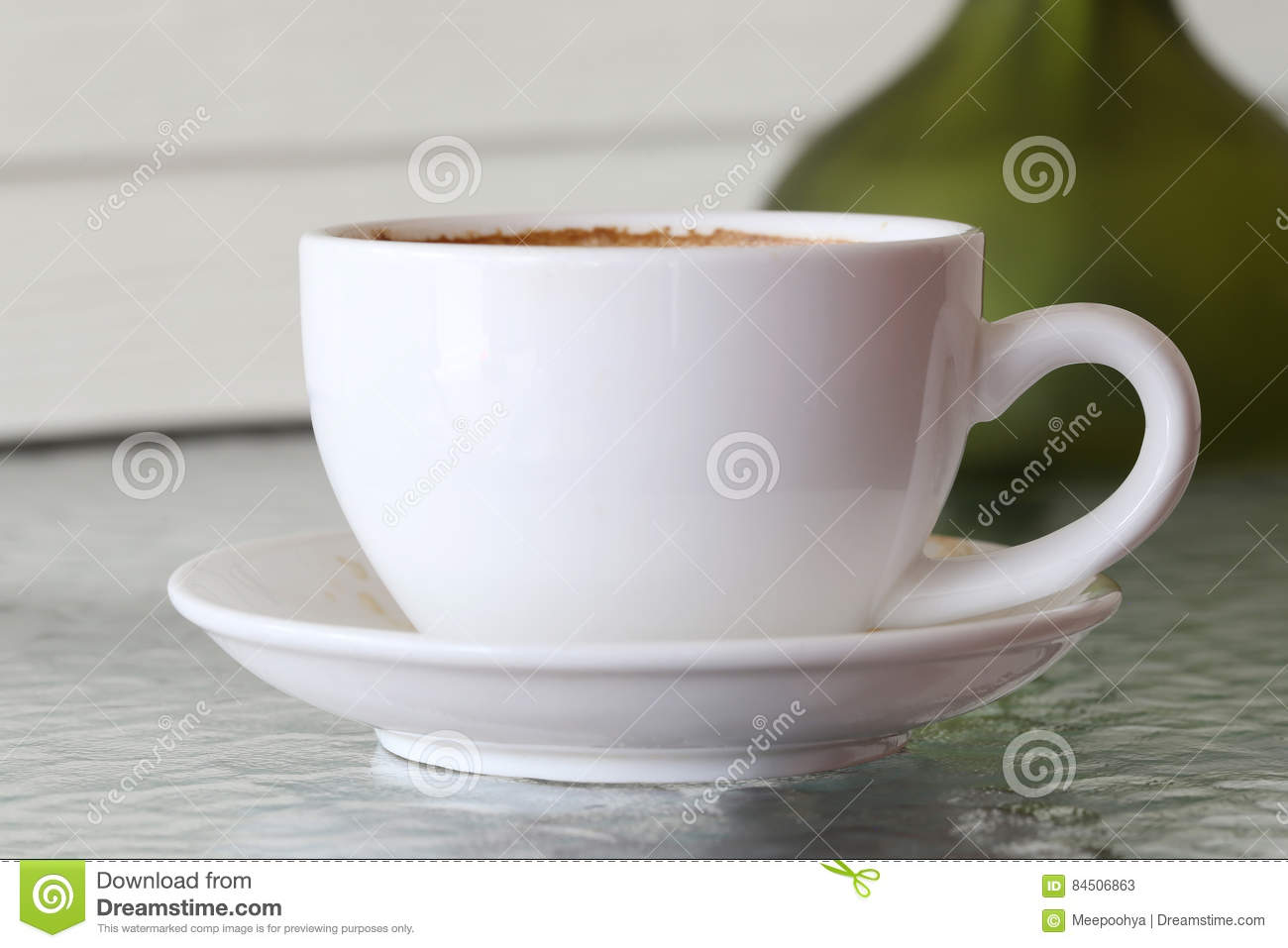 Mug A Cafe White Coffee Mug On Table Stock Image Image Of White 84506863
