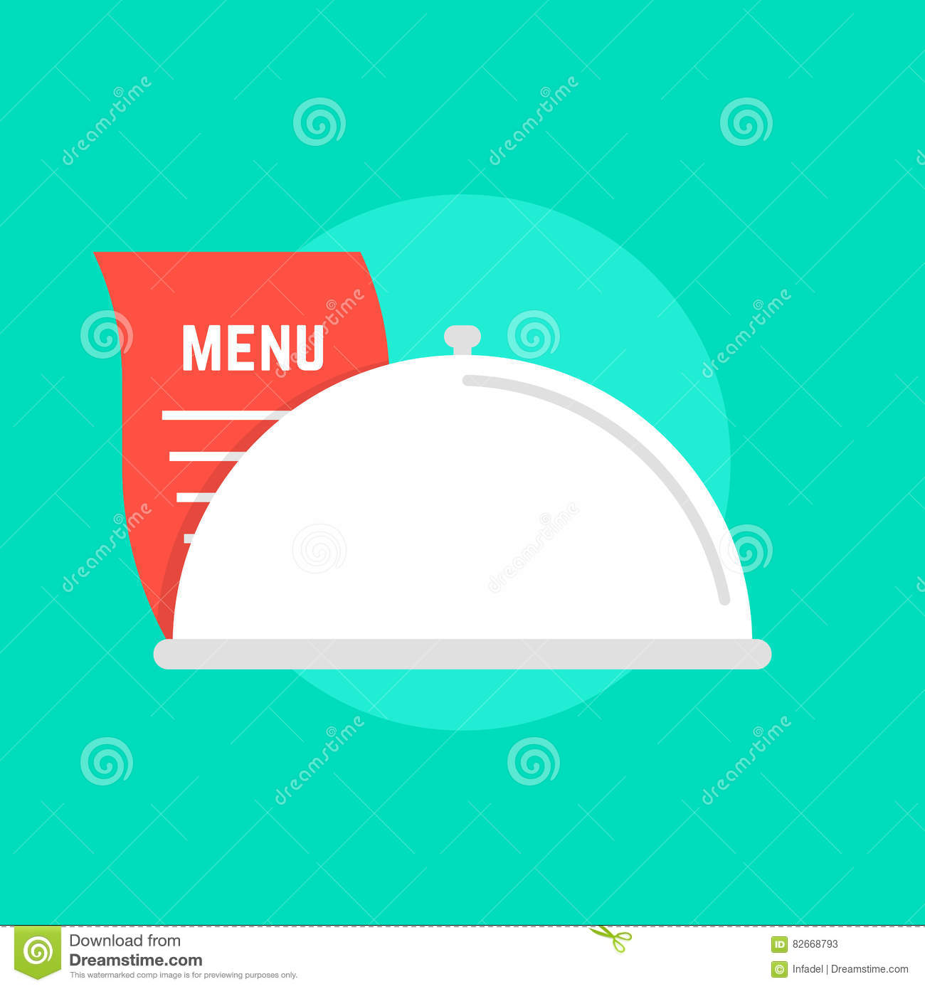 Diner Delivery White Dish Icon With Menu Stock Vector Illustration Of Catering