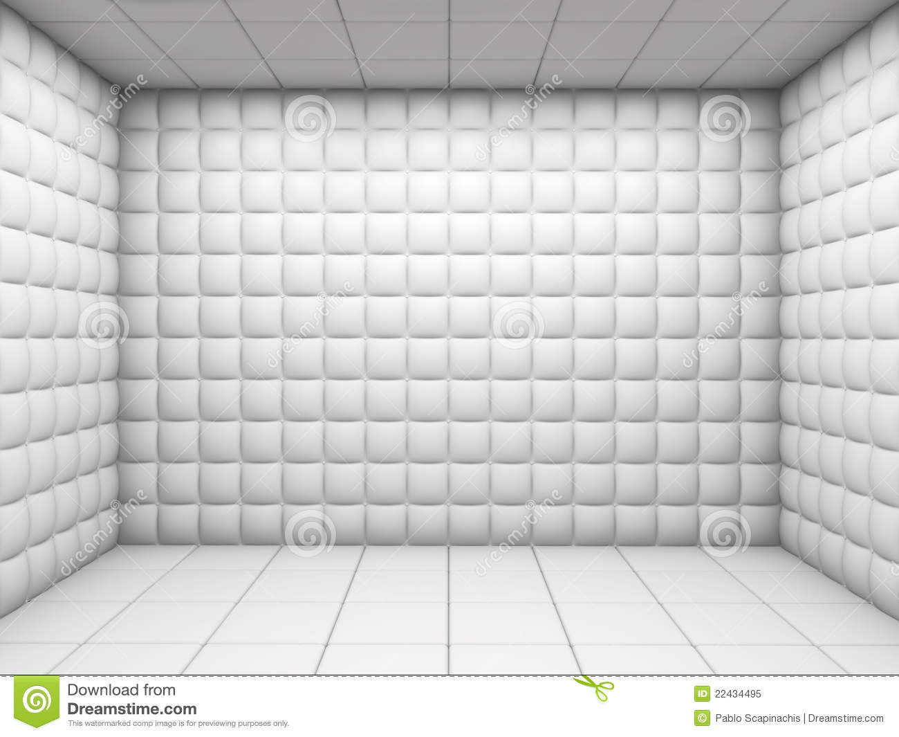 Insane 3d Wallpaper Download White Empty Padded Room Royalty Free Stock Photo Image