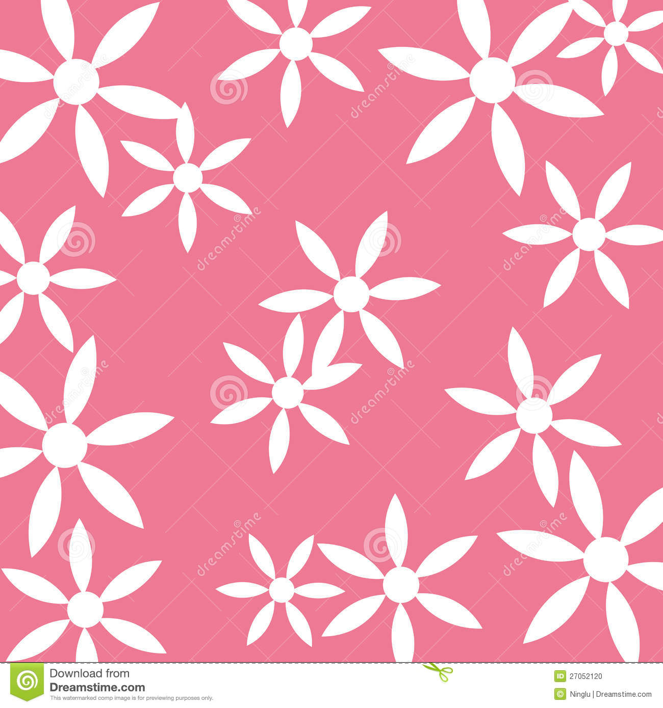 Cute Chevron Print Wallpaper White Flower Pattern Pink Background Stock Vector Image