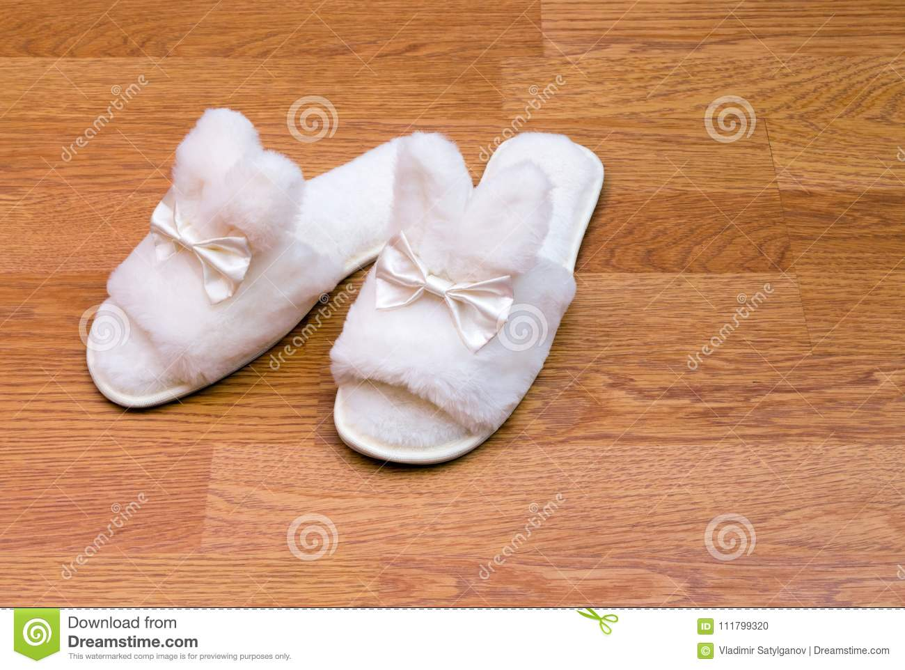 Baby Hotel Slippers White Fluffy Slippers Stock Photo Image Of Hotel Healthy