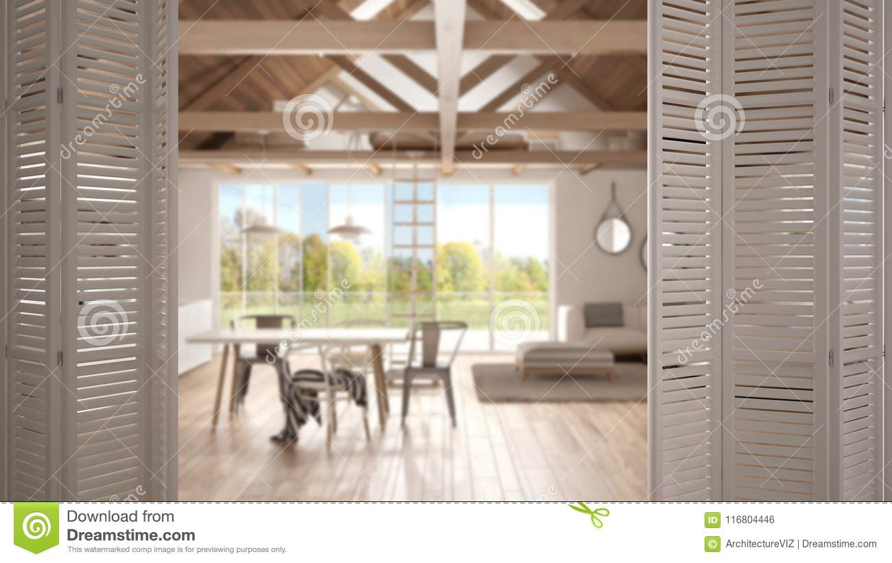 Kitchen Open Door Design White Folding Door Opening On Modern Open Space Living Room And