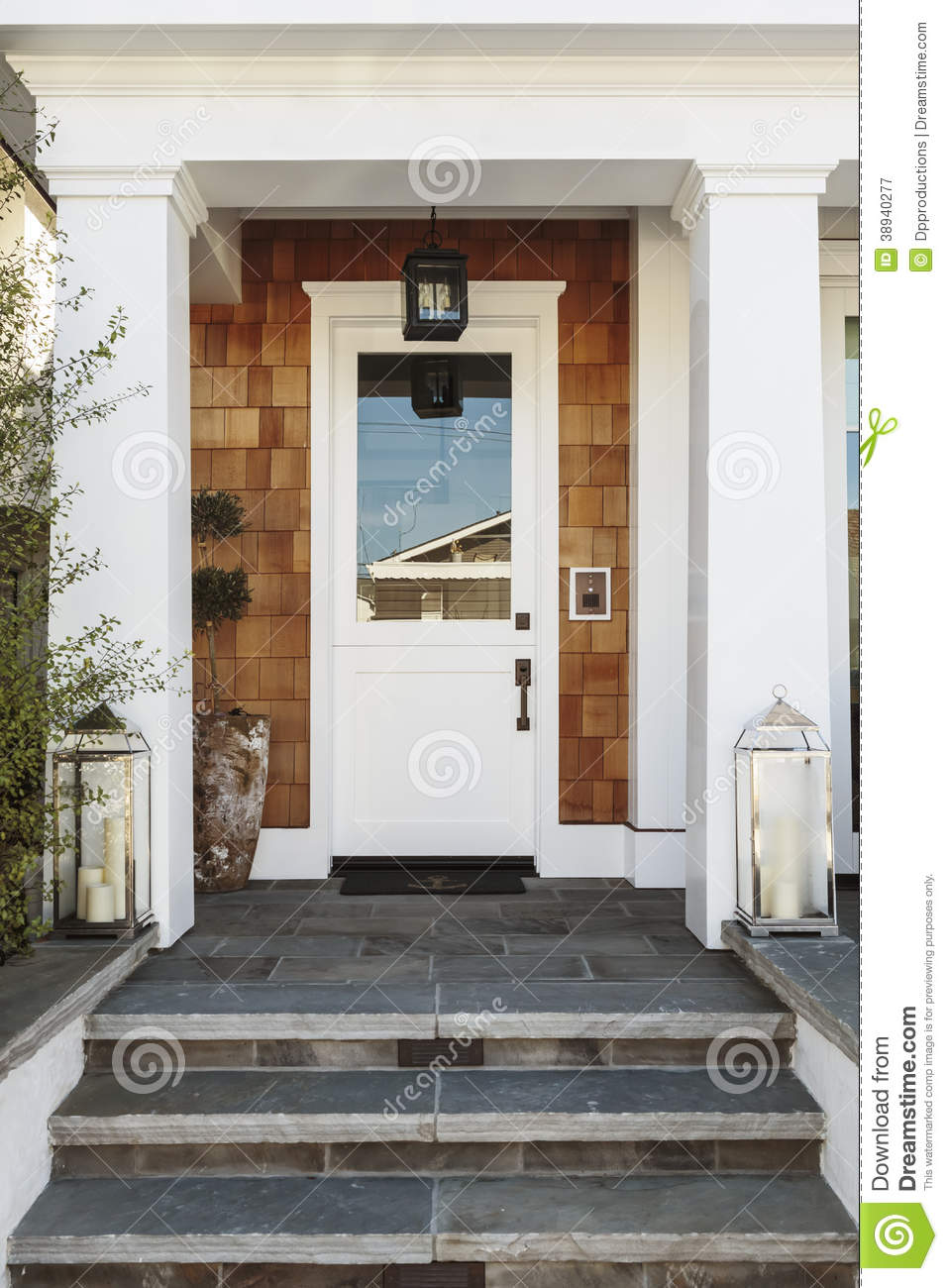 Expensive Front Doors White Front Door To A Luxury Home Stock Image - Image Of