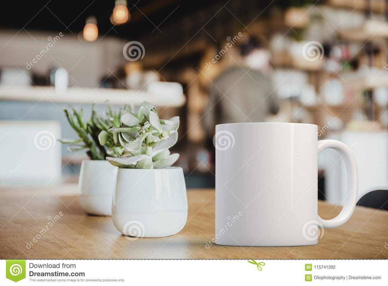 Mug A Cafe White Mug Mockup Stock Photo Image Of Photograph Stock 115741392