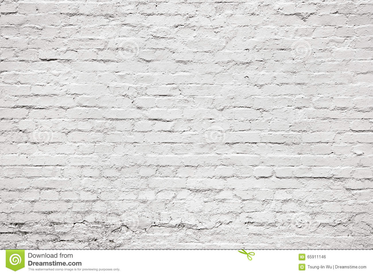 Baksteen Behang Wit White Old Aging Brick Wall For Background Texture Stock