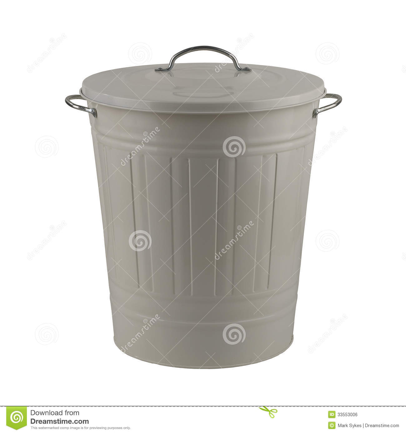Colored Kitchen Trash Cans White Painted Steel Trash Can Royalty Free Stock Image