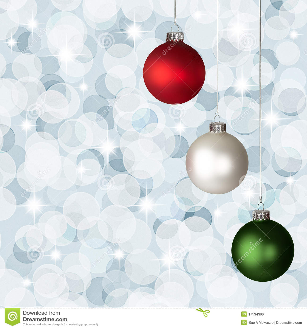 Background bokeh christmas green red silver white