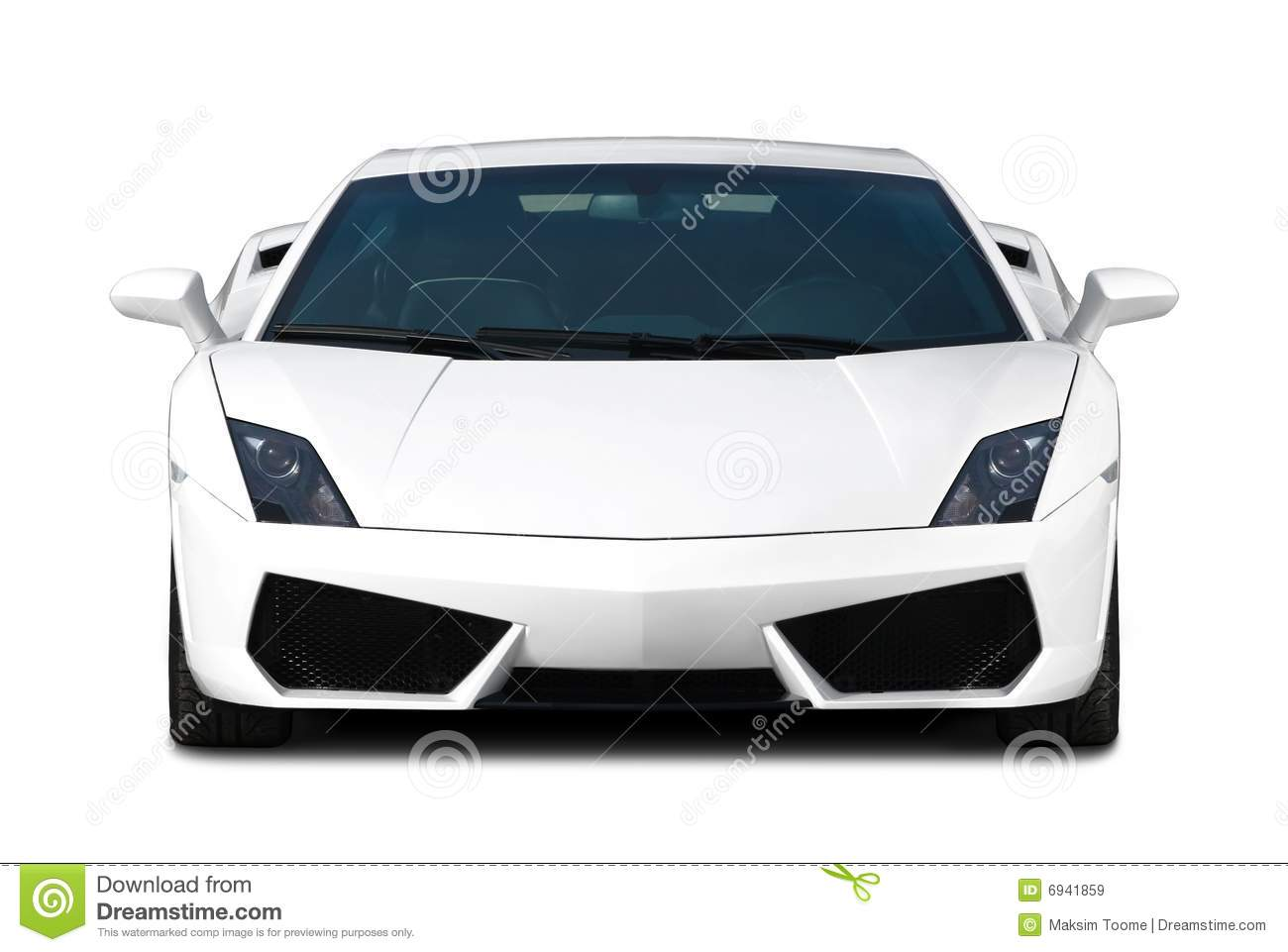 Max Power Cars Wallpaper White Supercar Front View Royalty Free Stock Images