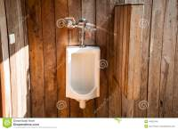 White Urinals In The Outdoor Restroom. Stock Photo - Image ...