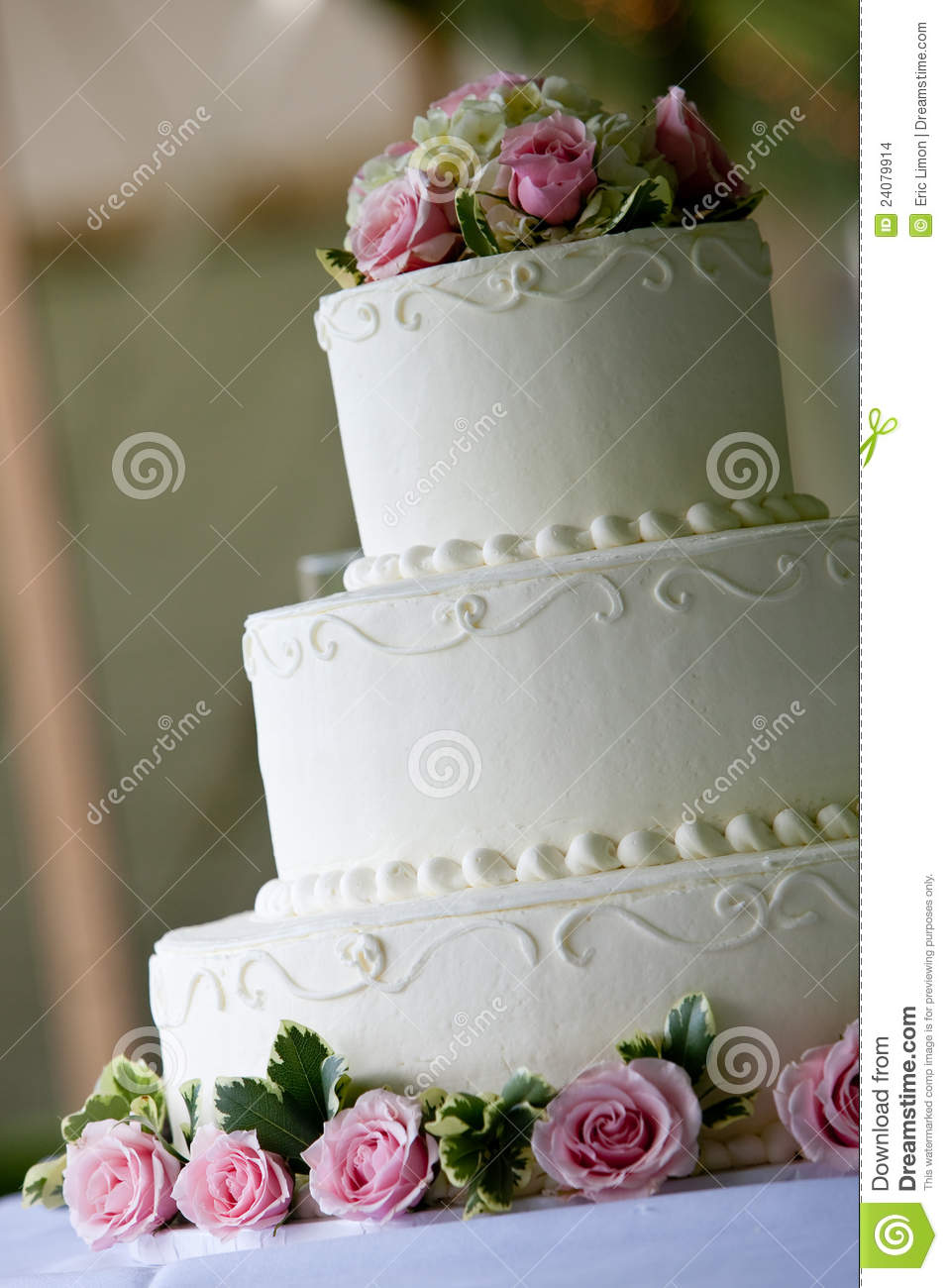 Stock Image Dreamstime White Wedding Cake With Pink Flowers Stock Photo Image