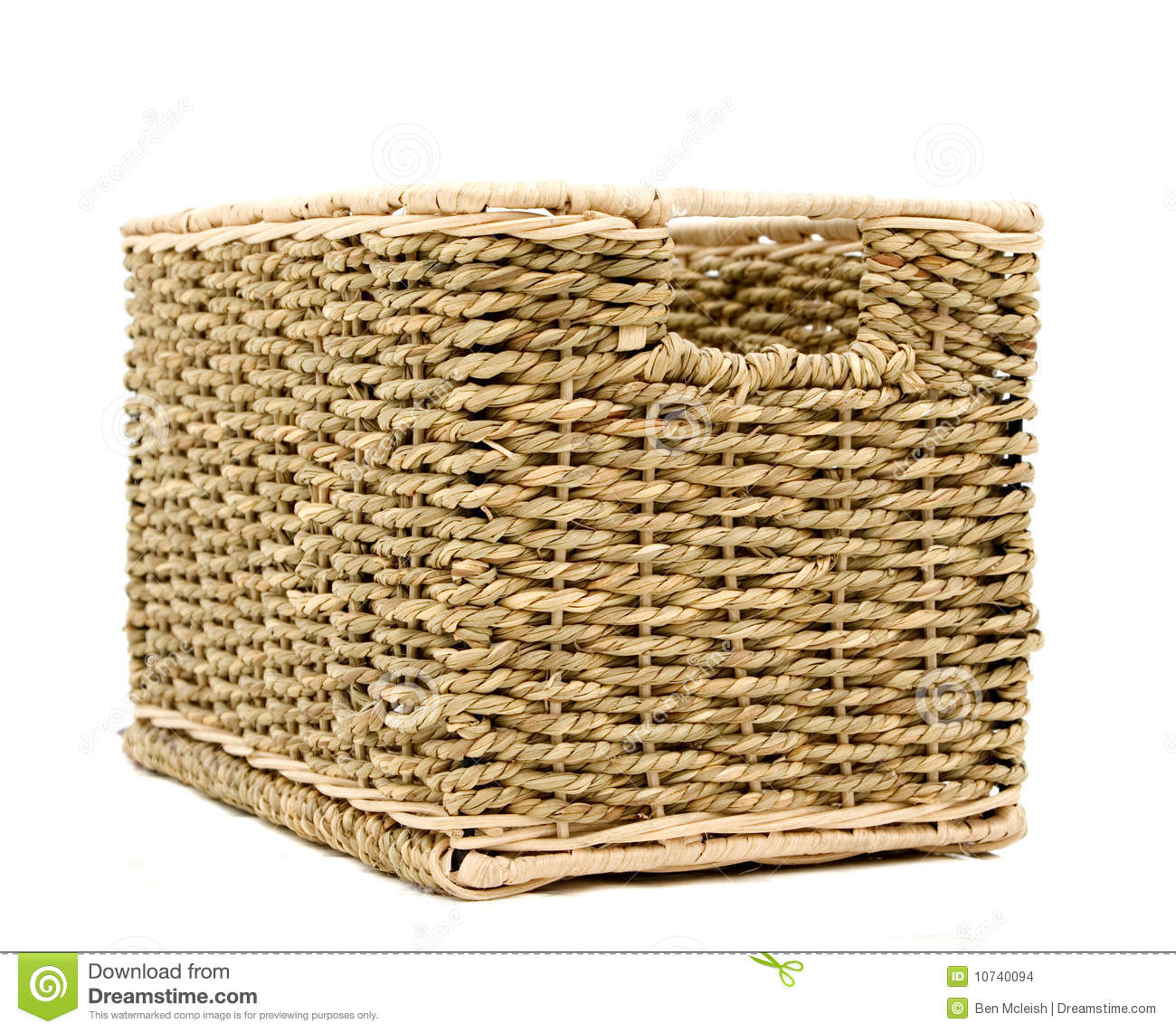 Animal Wicker Hamper Wicker Basket Stock Images Image 10740094