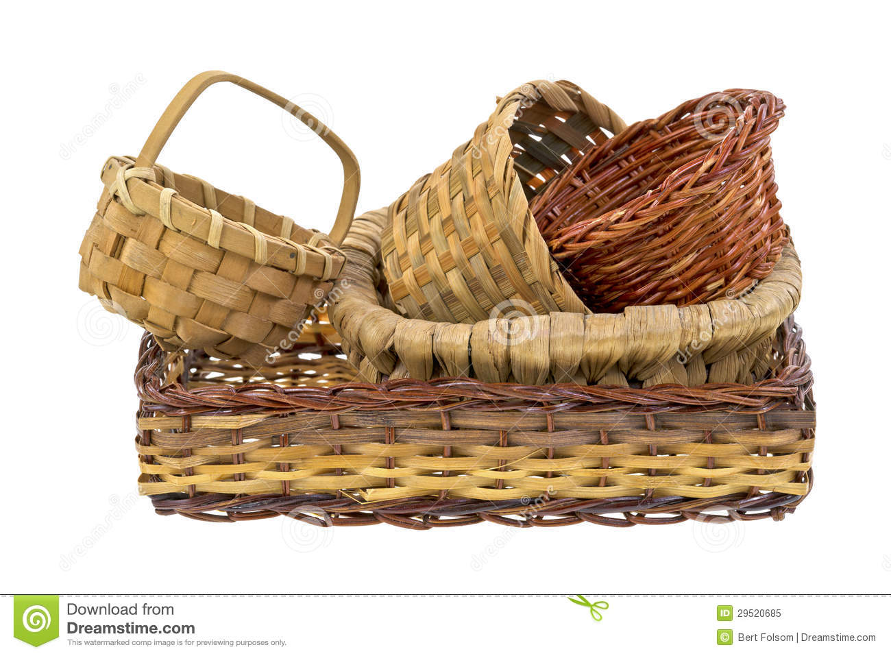 Animal Wicker Hamper Wicker Baskets Royalty Free Stock Photo Image 29520685